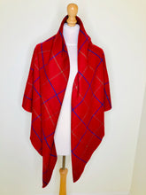 Load image into Gallery viewer, Vintage Burgundy Plaid Shawl