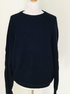 Vintage Kappa Navy Rib Knit Sweater