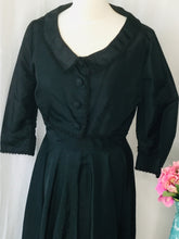 Load image into Gallery viewer, Vintage 1950s Black Taffeta Dress and Matching Jacket