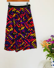 Load image into Gallery viewer, 80s vintage multicoloured skirt