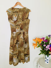 Load image into Gallery viewer, 80s leopard print vintage dress