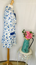 Load image into Gallery viewer, 60s Blue Floral Tunic/ Dress with Necktie