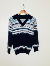 Load image into Gallery viewer, Vintage navy Fairisle sweater