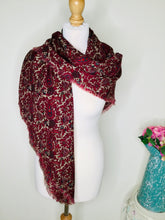 Load image into Gallery viewer, Vintage Burgundy Paisley Print Scarf