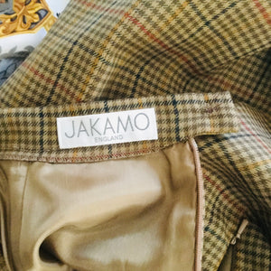 Vintage Jakamo check wool skirt