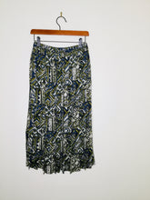 Load image into Gallery viewer, Vintage tribal print pleated midi skirt