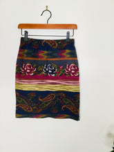 Load image into Gallery viewer, 90s vintage floral and paisley print short skirt