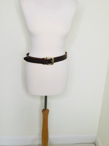 Vintage tooled brown leather belt