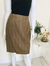 Load image into Gallery viewer, Vintage check print skirt