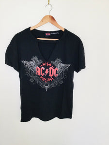 Vintage AC DC band T shirt with V neck