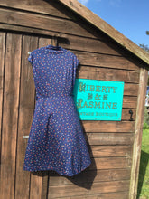 Load image into Gallery viewer, Vintage Navy Polka Dot Dress