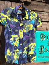 Load image into Gallery viewer, Floral print blouse in a tie dye effect