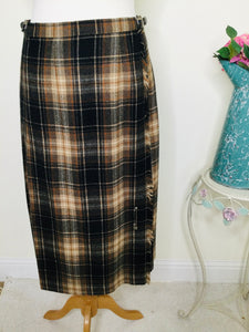 Vintage Plaid Wool  Kilt