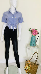Vintage Ralph Lauren tailored chambray blouse