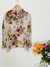 Load image into Gallery viewer, Vintage Floral Semi Sheer Blouse