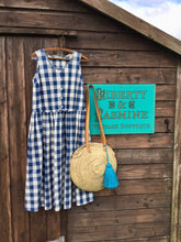 Load image into Gallery viewer, Blue and white gingham dress