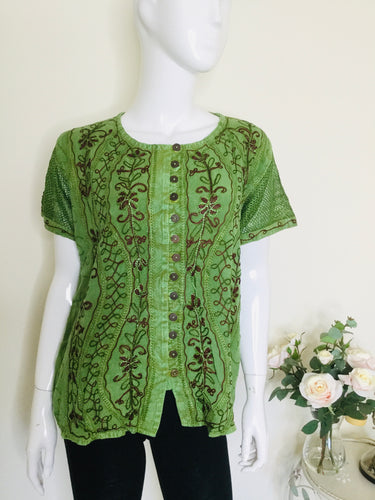 90s Vintage Embroidered Ethnic Top
