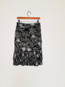 Vintage Betty Barclay rose and paisley print skirt
