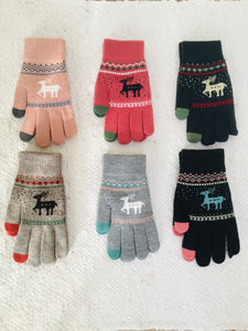 Touchscreen gloves with Scandi deer