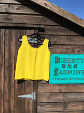 Load image into Gallery viewer, Canary yellow silk tank top