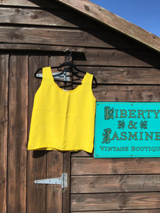 Canary yellow silk tank top