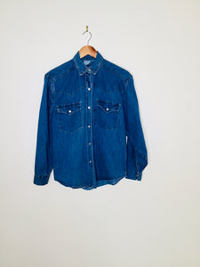 Blue vintage denim shirt