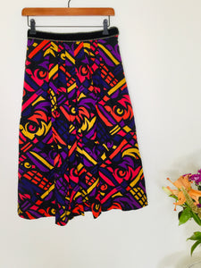 80s vintage multicoloured skirt with pockets