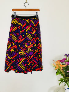 80s Vintage Multicoloured Skirt