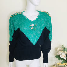 Load image into Gallery viewer, 80s sweater with shoulder pads