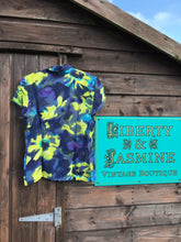 Load image into Gallery viewer, Vintage Tie Dye style Floral Blouse