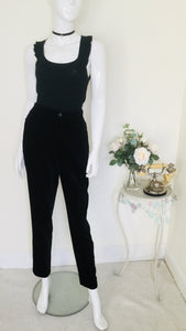 90s vintage velvet high waisted trousers