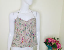 Load image into Gallery viewer, Pretty Silk floral halter neck top