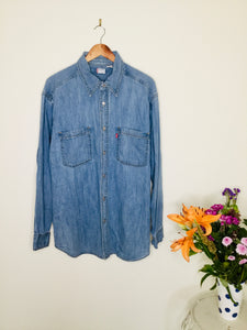 Vintage Levi's blue denim shirt