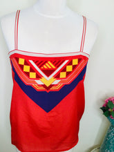 Load image into Gallery viewer, Vintage scarf style red camisole top