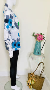 70s Floral Blouse with Dog Ear Collar