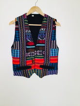 Load image into Gallery viewer, Vintage multicoloured Guatemalan waistcoat