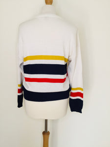 Vintage Sport Sweater with Cricket Motifs
