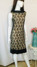 Load image into Gallery viewer, 60s Black and Nude Lace Dress