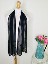 Load image into Gallery viewer, Black Chiffon Beaded Scarf