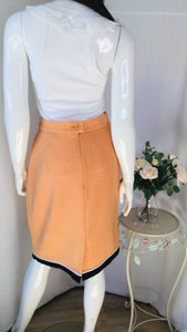 Escada  Designer Peach Wool Skirt