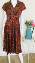 Load image into Gallery viewer, Fall vintage day dress
