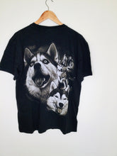 Load image into Gallery viewer, Vintage Black Wolf Print T Shirt