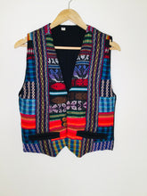 Load image into Gallery viewer, Multicoloured woven Guatemalan waistcoat