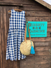 Load image into Gallery viewer, Vintage Blue and White Check Dress