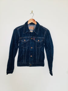 Vintage red tab Levi's dark denim jacket