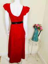 Load image into Gallery viewer, Vintage Red Velvet Dress