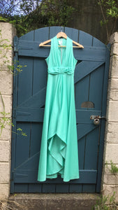 Vintage 70s Mint Green Maxi Dress