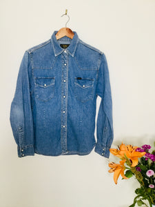 Vintage blue denim shirt