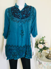 Load image into Gallery viewer, Vintage embellished ethnic tunic