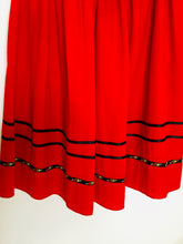 Load image into Gallery viewer, Red Vintage Folk Style Skirt